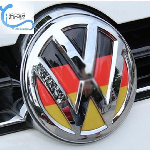 VW LOGO 前車標〈 德國立體水晶浮標〉車頭標誌貼紙 polo golf tiguan Beetle 沂軒精品 A0262