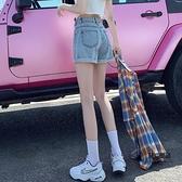 牛仔短褲女夏季寬鬆超高腰顯瘦a字女裝熱褲外穿【聚物優品】
