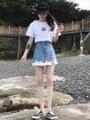 ins超火的牛仔半身裙女2019新款夏韓...