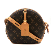 【台中米蘭站】全新品 Louis Vuitton BOITE CHAPEAU SOUPLE 經典花紋斜背圓餅包 (M52294)