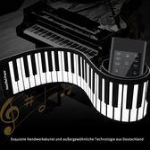 手卷電子琴  88加厚鍵盤專業成人入門初學者軟折疊便攜式電子琴-  喵可可