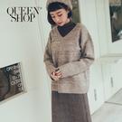 Queen Shop【01070930】混色V領長袖針織毛衣*現+預*