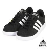 Adidas 新竹皇家 Advantage 黑色 麂皮 白線 運動休閒鞋 男款 NO.B0214