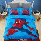 標準雙人床包組 蜘蛛人 迪士尼床包 卡通床包 藍色 marvel 小朋友床組 Disney授權 佛你企業