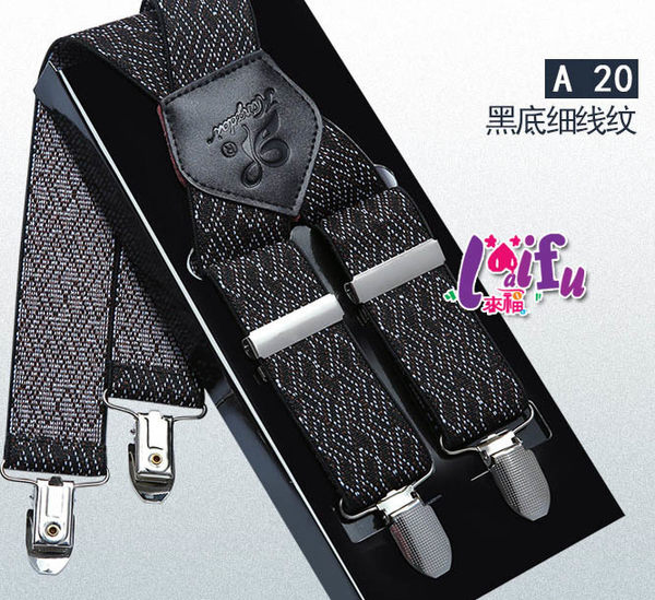 ★草魚妹★k1030吊帶四夾3.5cm真皮素色背帶吊帶褲帶夾正品,售價550元