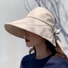 漁夫帽 日本UV防曬帽子女韓版百搭遮臉大檐網紅漁夫帽防紫外線遮陽空頂帽 【618 大促】