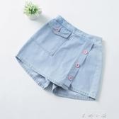 女童牛仔短褲薄款外穿2020夏裝新款兒童夏季洋氣大童女童短裙褲子 米娜小鋪