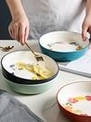 日式釉下彩陶瓷盤子菜盤