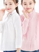 女童襯衫春童裝兒童白襯衣長袖純棉上衣【奇趣小屋】