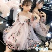 女童連身裙夏裝洋裝蓬蓬紗公主裙【奇趣小屋】