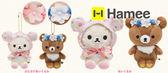 Hamee 交換禮物 San-X 懶懶熊 meets水彩花朵 拉拉熊 蜜茶熊 懶熊妹 絨毛娃娃 禮物 任選 MR98001