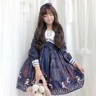 LO娘連身裙日系軟妹可愛春夏日常Lolita學生op長袖二次元連身裙蘿莉洋裝少女 非凡小鋪LX