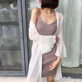防曬衣女中長款夏季新款韓版百搭雪紡開衫寬鬆外套薄大碼披肩  卡布奇諾