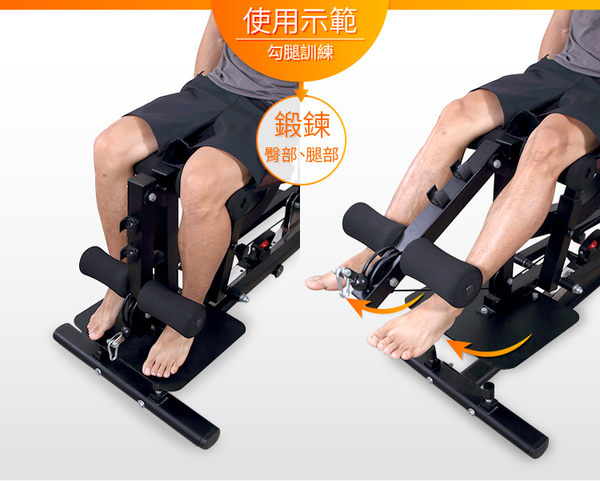 《無配重塊自重款》綜合力量訓練器/家庭健身/多功能健身器材