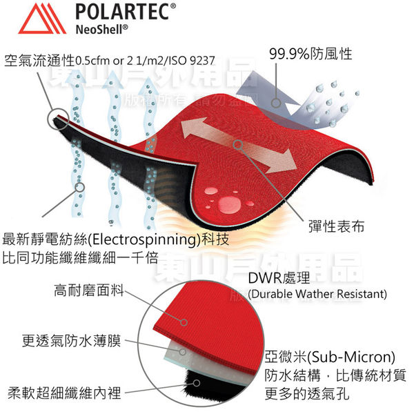 EasyMain衣力美 CE17086-29橘紅 女防水輕暖連帽夾克 Polartec Neo Shell機能外套/防寒軟殼衣*