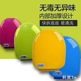 彩色馬桶蓋通用加厚坐便器蓋緩降老式圈座便蓋PP蓋板O U型V型配件 js26915『科炫3C』