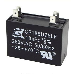 【18uf】250V 除濕機電容 (送風馬達)/亦適用於:冰箱/洗衣機(規格相符亦可使用)