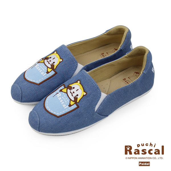 Paidal x Rascal小小浣熊休閒鞋樂福鞋懶人鞋-口袋浣熊
