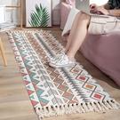 進門門墊蹭灰墊家用手工棉麻美式復古民族風掛毯臥室床邊地墊地毯 快速出貨 YYP