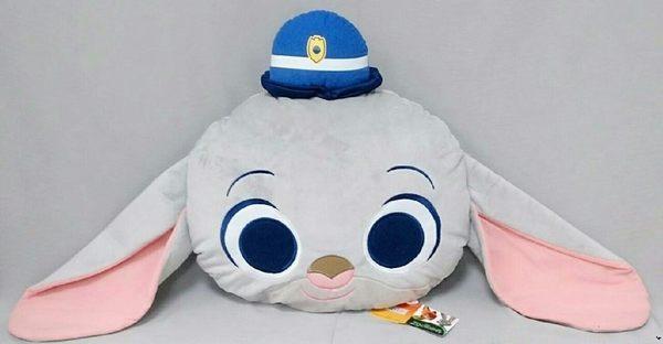 【現貨】 《動物方城市》正版授權【戴帽子 兔子 茱蒂 JUDY】大頭抱枕娃娃 聖誕節 蔡依林