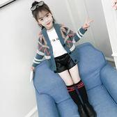 針織外套 女童毛衣韓版洋氣中大童線衣兒童針織春秋百搭開衫外套潮【小天使】