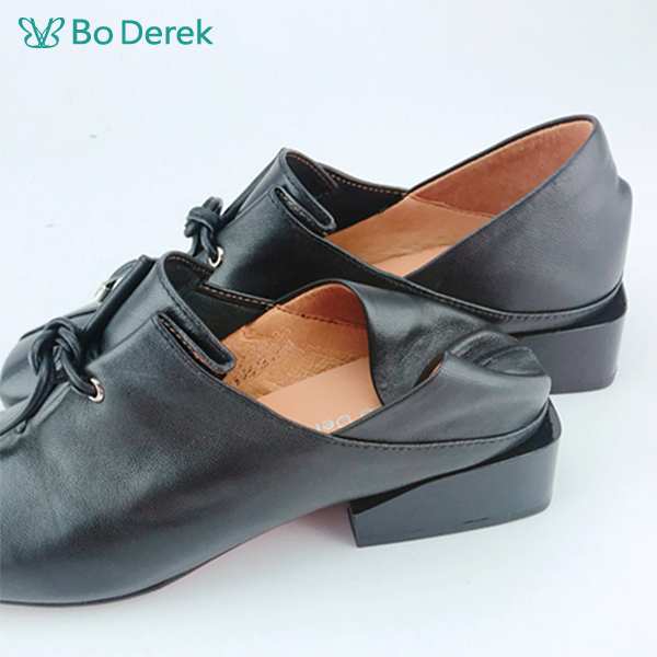 Bo Derek 綁帶後踩休閒鞋-黑色