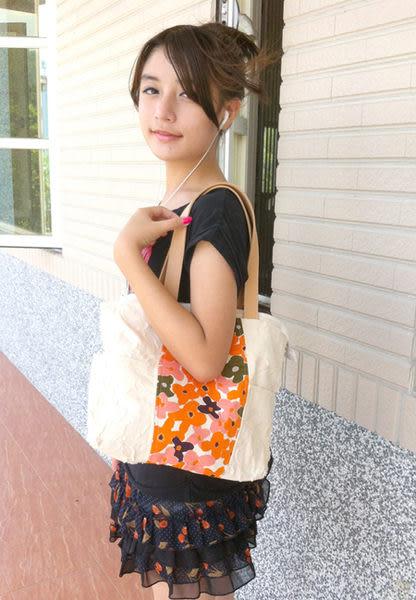 皮提把花朵肩背包/外出包*Mita*MI-0525