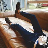 牛仔褲 - 牛仔褲男青年修身小腳褲彈力休閑男褲黑色長褲子【韓衣舍】