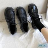 大頭鞋 寬鬆鞋子女舒適大頭鞋秋款單鞋舒適2019新款黑色小皮鞋抖音同款潮