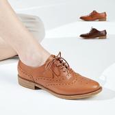 復古雕花牛津鞋。波波娜拉Bubble Nara。一針一洞的手感皮作 NA050-2