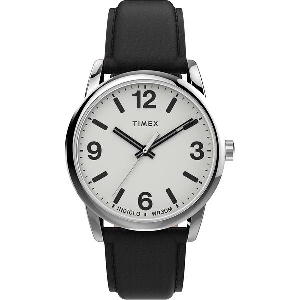 【TIMEX】Easy Reader系列 簡約風尚手錶(白黑 TXTW2U71700)