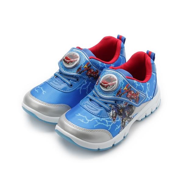 衝鋒戰士 Hello Carbot 電燈運動鞋 藍 HCKX84666 中大童鞋 鞋全家福