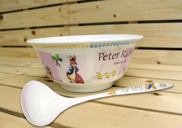 【クロワッサン科羅沙】Peter Rabbit 比得兔美耐皿湯碗8吋B2622+長柄湯杓(PR006)SP257 (乙組)