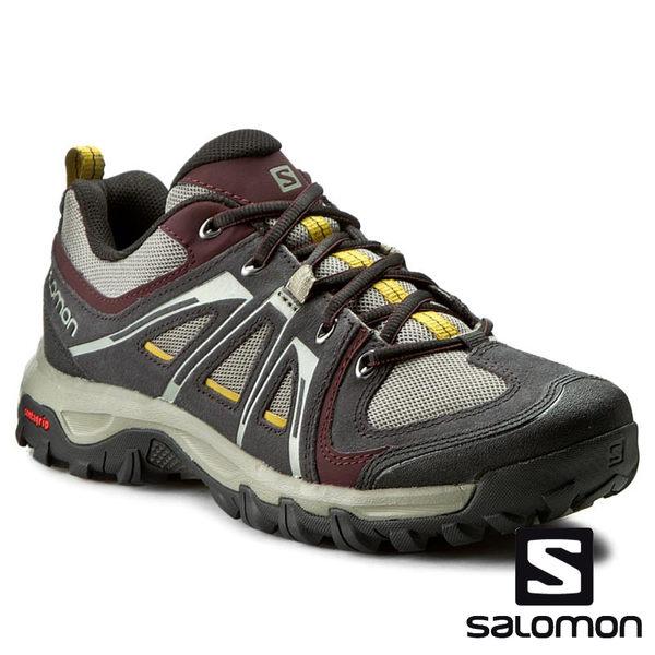 【SALOMON 法國】男 EVASION AERO 低筒登山鞋『深鈦/黑/紫黑』391826 多功能鞋.健行鞋.登山鞋