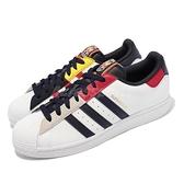 adidas 休閒鞋 Superstar 白 紅 拼接 金標 男鞋 愛迪達 三葉草 【ACS】 H05250