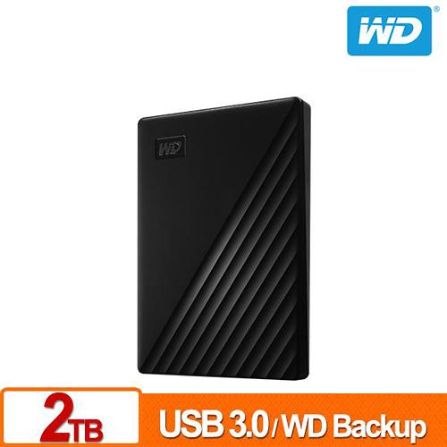 (2019新款) WD My Passport 2TB 黑色 2.5吋 USB3.0 外接硬碟 WDBYVG0020BBK-WESN