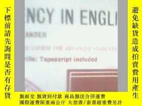 二手書博民逛書店FLUENCY罕見IN ENGLISH 4Y19658 L.G.