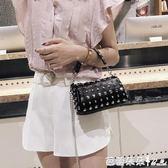 手提包-雅萊仕上新小包包女2018新款潮韓版時尚柳釘單肩包chic鏈條斜挎包 『快速出貨』