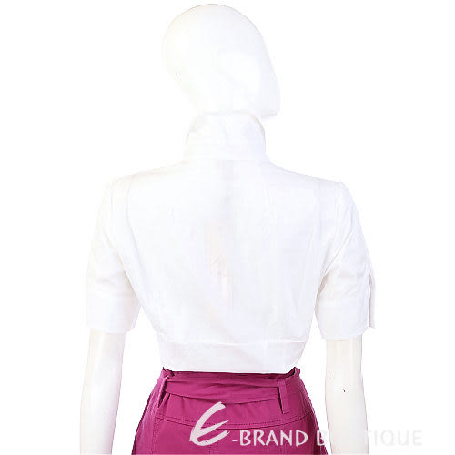 KENZO-antonio marras 白色束腰設計短袖襯衫 0910188-20