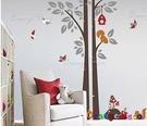 壁貼【橘果設計】松鼠 DIY組合壁貼/牆...