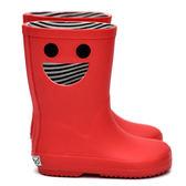 法國BOXBO 兒童雨鞋 / 雨靴-我愛笑瞇瞇(石榴紅)  時尚兒童雨鞋 / 防水雨靴 / 防滑橡膠雨鞋