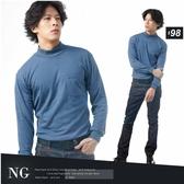 【大盤大】(N8-628) NG無法退換 灰藍 圓領套頭 M號 高領 毛衣內搭 保暖衣 刷毛工作服 發熱衣