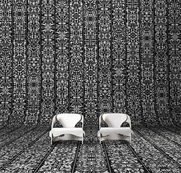 【進口牆紙】Archives Wallpaper by Studio Job【訂貨單位48.7cm×9m/卷】荷蘭 黑色 JOB-03