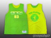 AND1 球衣 雙面穿 籃球背心 漸層 #93 綠黃 肌肉人 練習衣 T4033-1085【Speedkobe】
