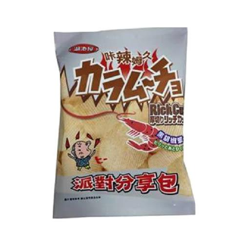 卡辣姆久厚切洋芋片-黑胡椒蝦口味150g【愛買】