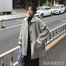 長款外套外套女新款秋冬季加厚中長款小個子百搭西裝雙面大衣 【快速出貨】