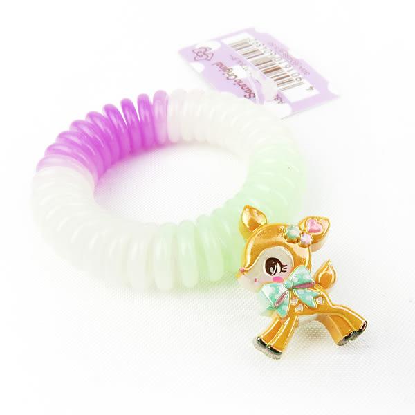 哈尼鹿髮圈 糖果色電話線彈性髮圈/髮束 [喜愛屋]