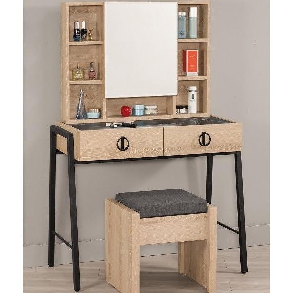 化妝台 MK-537-3 伯爾尼3尺化妝台(含椅)【大眾家居舘】