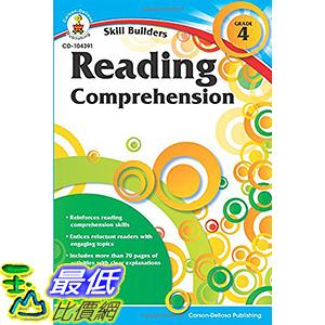 [106美國直購] 2017美國暢銷書 Reading Comprehension, Grade 4 (Skill Builders)