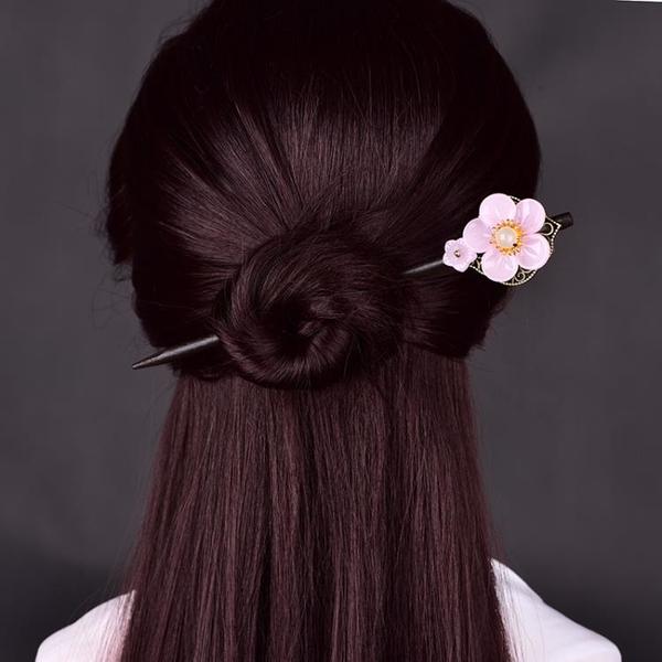簡約氣質琉璃花古風髪簪女盤髪簪子髪釵頭飾古裝漢服飾品日常外出 髪插